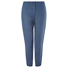 Buy John Lewis Linen Peg Leg Trousers, Indigo Online at johnlewis.com