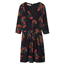 Buy Mango Belt Printed Dress, Black Online at johnlewis.com
