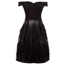Buy Coast Keeley Feather Dress, Black Online at johnlewis.com