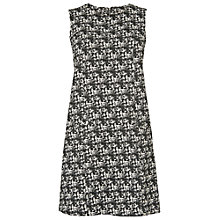 Buy Phase Eight Blurred Check Lena Dress, Black/Ivory Online at johnlewis.com