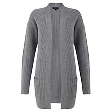 Buy Jigsaw Cashmere Marilyn Cardigan, Dark Grey Online at johnlewis.com