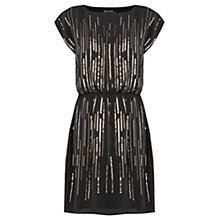 Buy Warehouse Bead & Sequin Scatter Dress, Black Online at johnlewis.com