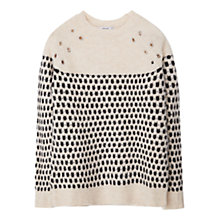 Buy Mango Studded Textured Jumper, Light Beige Online at johnlewis.com