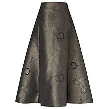 Buy L.K. Bennett Bianco Metallic Full Skirt, Gold Online at johnlewis.com