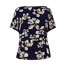 Buy Warehouse Floral Print Cape Back Top, Multi Online at johnlewis.com