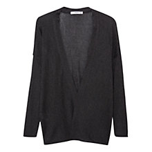 Buy Mango Textured Cardigan, Dark Grey Online at johnlewis.com