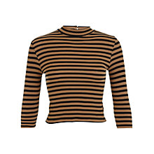 Buy Miss Selfridge Petite Turtle Neck Top, Black/Camel Online at johnlewis.com