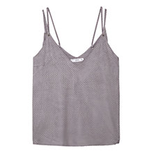 Buy Mango Textured Vest, Grey Online at johnlewis.com