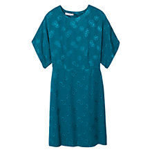 Buy Mango Floral Pattern Dress, Blue Online at johnlewis.com