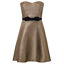 Buy Coast Melanie Bandea Dress, Gold Online at johnlewis.com
