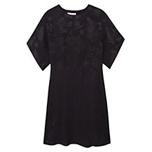 Buy Mango Floral Pattern Dress, Black Online at johnlewis.com