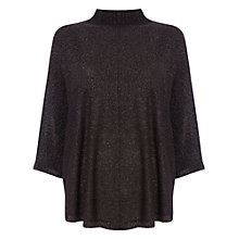 Buy Phase Eight Shimmer Poncho, Black Online at johnlewis.com