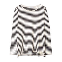 Buy Mango Striped Cotton Tee, Light Beige Online at johnlewis.com