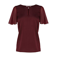 Buy Coast Luca Top, Merlot Online at johnlewis.com