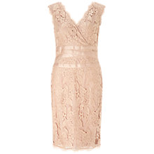 Buy Adrianna Papell Plus Size Stretch Floral Lace Dress, Doe Pink Online at johnlewis.com