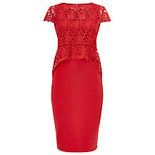 Buy Phase Eight Lexus Layered Lace Dress, Coral Online at johnlewis.com