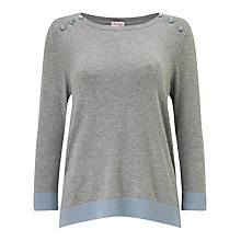 Buy Phase Eight Benjamine Button Jumper, Grey Marl Online at johnlewis.com