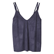 Buy Mango Textured Vest, Medium Blue Online at johnlewis.com