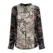 Buy Warehouse Blocked Floral Blouse, Multi Online at johnlewis.com