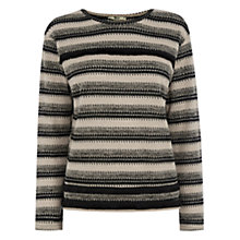 Buy Oasis Fringe Stripe Sweatshirt, Multi Online at johnlewis.com