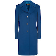 Buy Jaeger Three Button Wool Coat, Ocean Blue Online at johnlewis.com