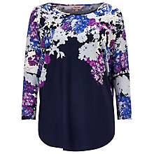 Buy Phase Eight Elenora Print Top, Blue Online at johnlewis.com