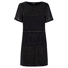 Buy Warehouse Beaded T-Shirt Dress, Navy Online at johnlewis.com