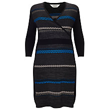 Buy Studio 8 Natalie Wrap Front Dress, Grey/Multi Online at johnlewis.com