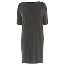 Buy Warehouse Metallic Tunic Dress, Silver Online at johnlewis.com