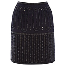 Buy Warehouse Beaded Skirt, Navy Online at johnlewis.com