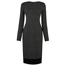 Buy Oasis Tweed Patched Tube Dress, Mid Grey Online at johnlewis.com