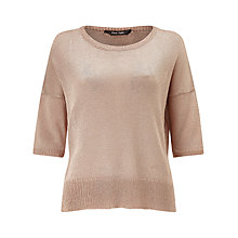 Buy Phase Eight Mea Shimmer Jumper, Nude Online at johnlewis.com