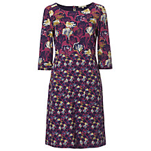 Buy White Stuff Forester Floral Print Jersey Dress, Juniper Pink Online at johnlewis.com