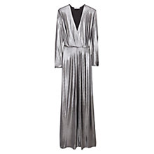 Buy Mango Wrap Front Maxi Dress, Silver Online at johnlewis.com