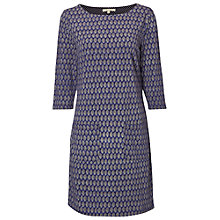 Buy White Stuff Shanrala Leaf Print Jersey Dress, Marine Purple Online at johnlewis.com