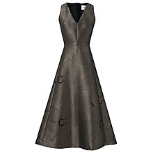 Buy L.K. Bennett Bianco Metallic Full Skirt Dress, Gold/Black Online at johnlewis.com