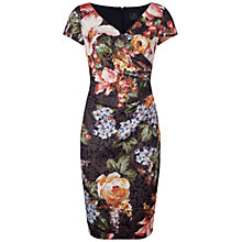 Buy Adrianna Papell Pleated Faux Wrap Dress, Multi Online at johnlewis.com