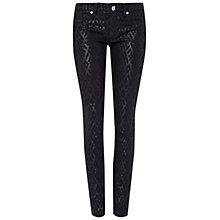 Buy Ted Baker Aninna Diamond Glitter Trousers, Black Online at johnlewis.com