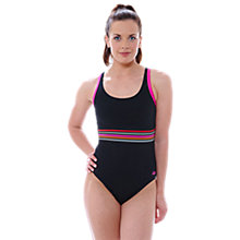 Buy Zoggs Mindil Laserback Swimsuit, Black Online at johnlewis.com
