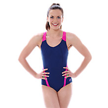 Buy Zoggs Brisbane X-Back Swimsuit, Navy/Multi Online at johnlewis.com