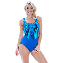 Buy Zoggs Blue Planet Scoopback Swimsuit, Blue Online at johnlewis.com