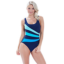 Buy Zoggs Blue Planet Sandon Scoopback Swimsuit, Navy Online at johnlewis.com