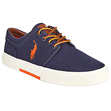 Buy Polo Ralph Lauren Faxon Lace-Up Shoes, Navy Online at johnlewis.com