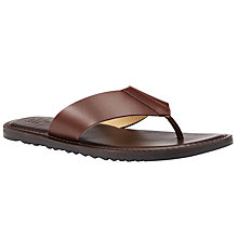 Buy Kin by John Lewis Leather Toepost Sandals, Brown Online at johnlewis.com