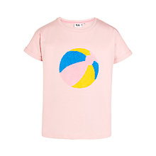 Buy Kin by John Lewis Girls Beach Ball T-Shirt, Pink Online at johnlewis.com