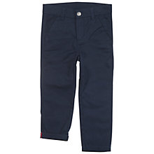Buy Polarn O. Pyret Children's Cotton Trousers, Blue Online at johnlewis.com