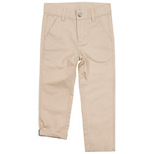 Buy Polarn O. Pyret Children's Cotton Trousers, Beige Online at johnlewis.com