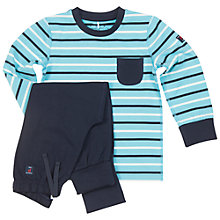 Buy Polarn O. Pyret Children's Stripe Pyjamas, Blue Online at johnlewis.com