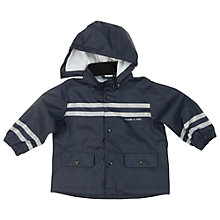 Buy Polarn O. Pyret Baby Plain Raincoat, Blue Online at johnlewis.com