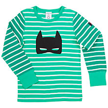 Buy Polarn O. Pyret Children's Appliqué Stripe Top, Green Online at johnlewis.com